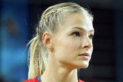 Darya Klishina Long Braided Hairstyle