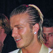 David Beckham Half Up Half Down