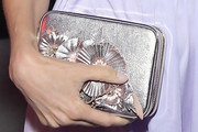 Angela Sarafyan Metallic Clutch