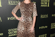 Annabelle Wallis Print Dress