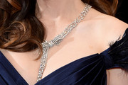 Zooey Deschanel Diamond Statement Necklace