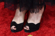 Anna Paquin Peep Toe Pumps