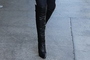 Lily Aldridge Knee High Boots