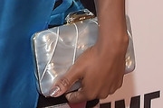 Shanola Hampton Metallic Clutch