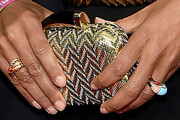 Robin Roberts Metallic Clutch