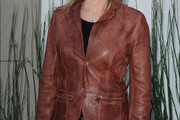 Courtney Thorne-Smith Leather Coat