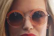Georgia May Jagger Round Sunglasses
