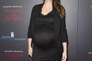 Saffron Burrows Maternity Dress