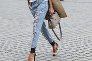 Izabel Goulart Ripped Jeans