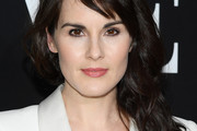 Michelle Dockery Long Wavy Cut with Bangs