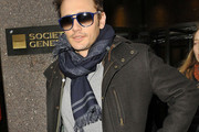 James Franco Patterned Scarf
