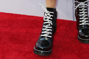 Diane Keaton Lace Up Boots