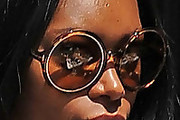 Jessica White Round Sunglasses