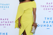 Angela Bassett Off-the-Shoulder Dress