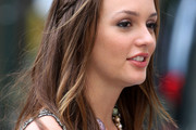 Leighton Meester Long Partially Braided