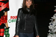 Lindsay Hartley Leather Coat