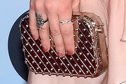 Lucy Hale Metallic Clutch