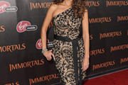 Melina Kanakaredes One Shoulder Dress