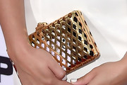 Lea Michele Metallic Clutch