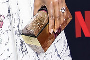 Regina King Metallic Clutch