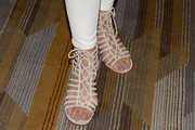 Cheryl Hines Lace-Up Heels