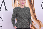 Tilda Swinton Embellished Top