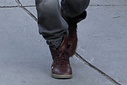 Hayden Christensen Lace Up Boots