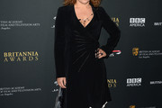 Alex Kingston Wrap Dress