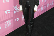 Alia Shawkat Leather Pants