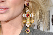 Isabel Adrian Dangling Gemstone Earrings