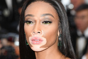 Winnie Harlow Long Straight Cut