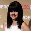 Selena Gomez Long Straight Cut with Bangs