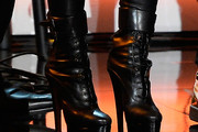 Beyonce Knowles Lace Up Boots