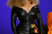 Beyonce Knowles Leather Dress