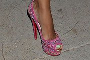 Evelyn Lozada Peep Toe Pumps