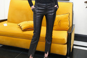 Karolina Kurkova Leather Pants
