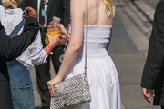Elle Fanning Metallic Shoulder Bag