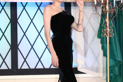 Angelina Jolie Strapless Dress