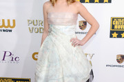 Sophie Nelisse Strapless Dress