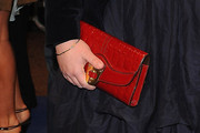 Katy Brand Leather Clutch