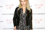 Jessica Stam Leather Jacket