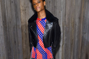 Letitia Wright Leather Jacket