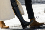 Elizabeth Olsen Knee High Boots