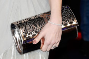 Ashley James Metallic Clutch
