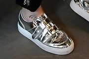 Jenny McCarthy Leather Sneakers