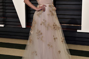 Leslie Mann Embroidered Dress