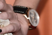 Charlize Theron Leather Band Quartz Watch