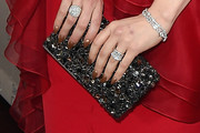 Laura Prepon Beaded Clutch
