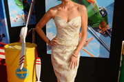 Teri Hatcher Strapless Dress