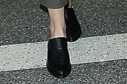 Emma Watson Leather Slip On Shoes